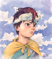 Kamil watercolor illustration by Trunnec