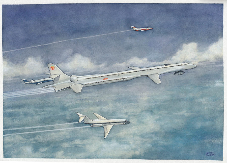 Aircraft (watercolor commission) by Trunnec