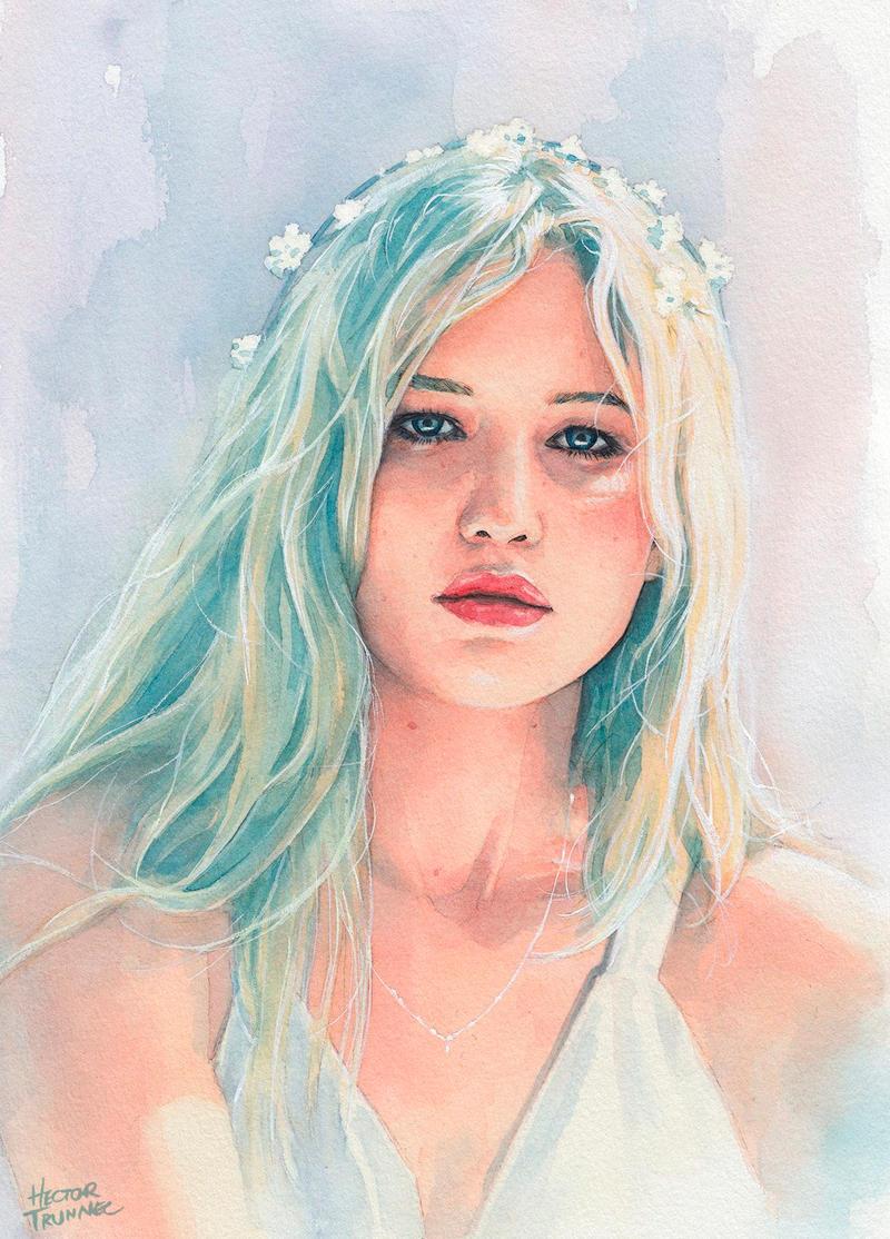 jennifer_lawrence_watercolor_by_trunnec-
