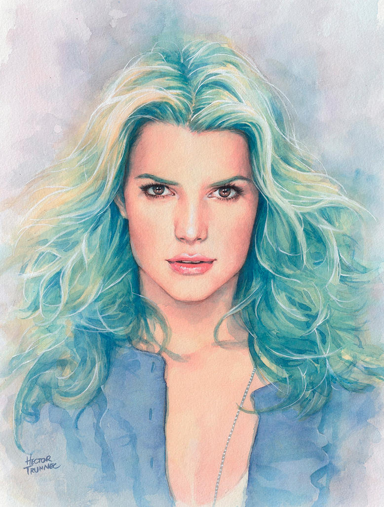 Watercolor portrait by Trunnec