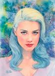 Amber Heard watercolor