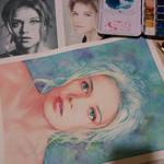 Watercolor portrait WIP