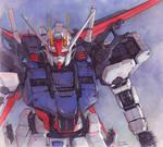 Aile Strike Gundam watercolor