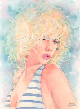 Scarlett Johansson 3rd watercolor