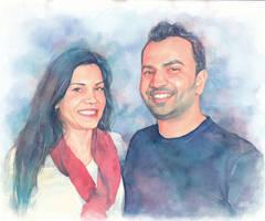 Commission couple portrait