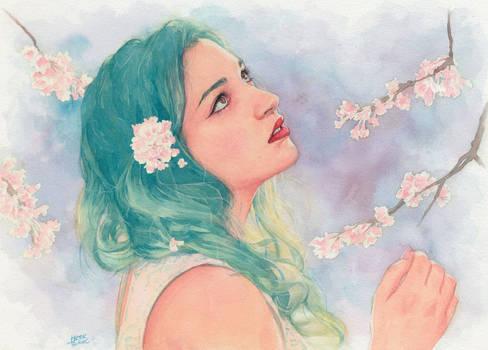 Flowers (commission portrait)