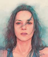 Marion Cotillard watercolor