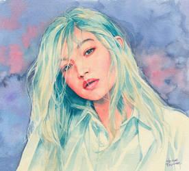 Gigi Hadid watercolor