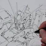 Inking Nu Gundam