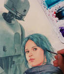 Jyn Erso and K-2so WIP
