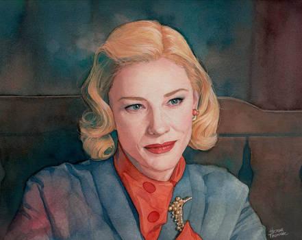 Cate Blanchett watercolor