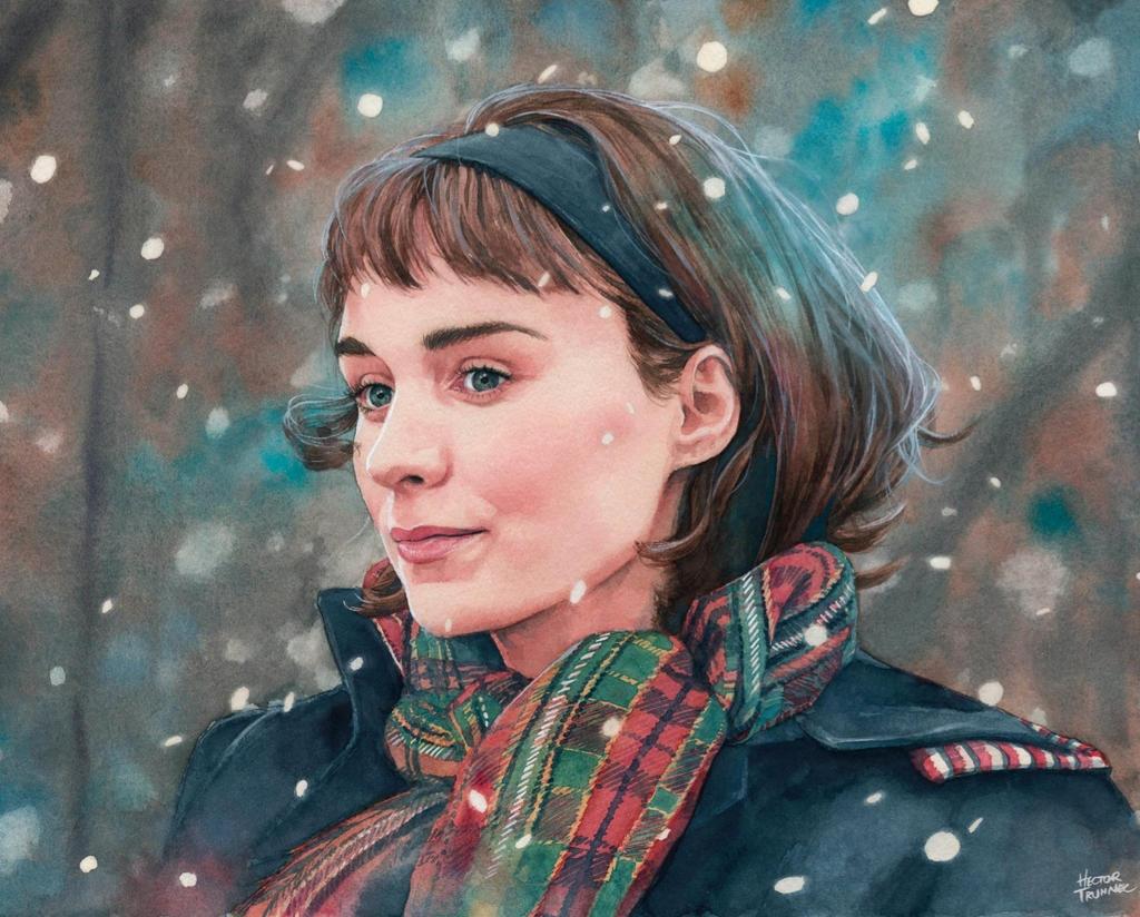 Rooney Mara watercolor