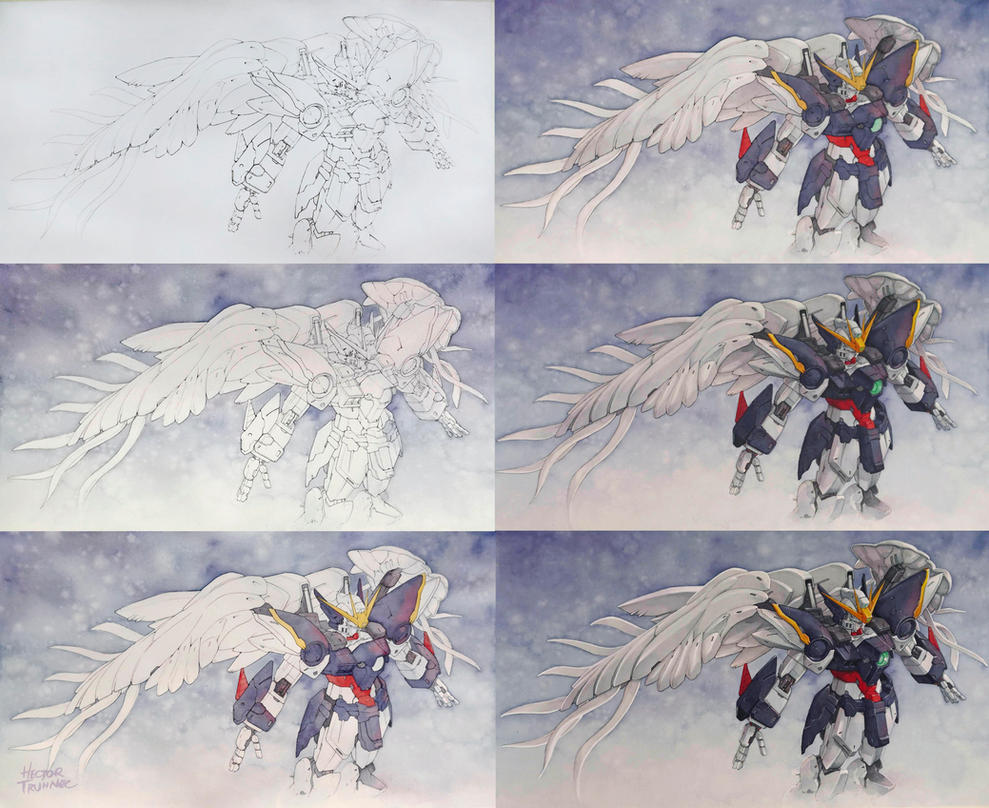 Gundam Wing Zero step by step by Trunnec