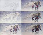 Gundam Wing Zero step by step