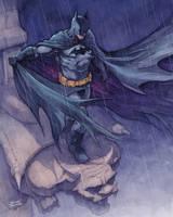 Batman watercolor commission by Trunnec