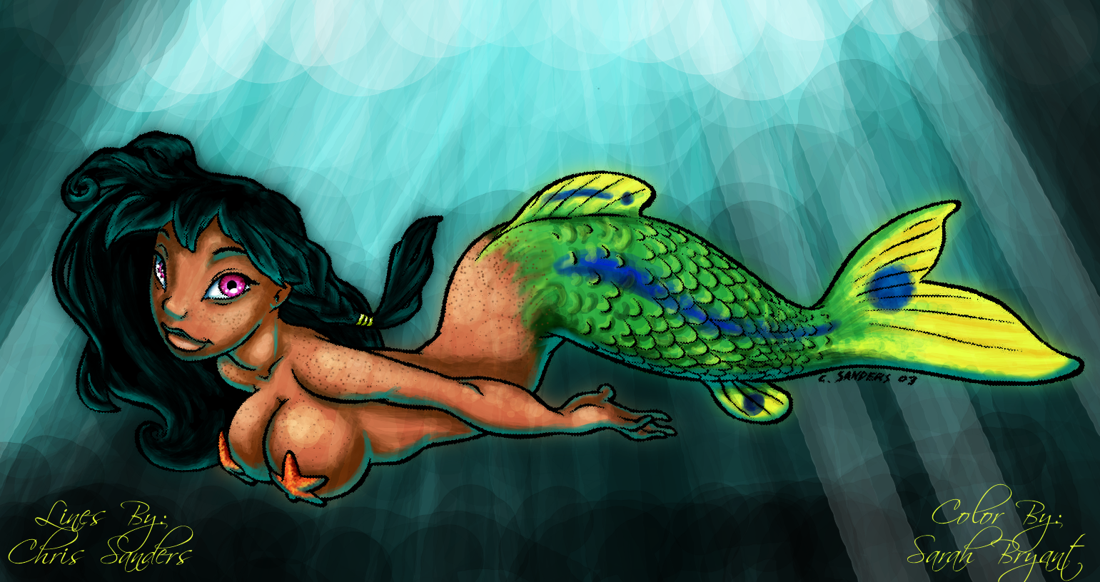 Chris Sanders Mermaid by spazzbot on DeviantArt