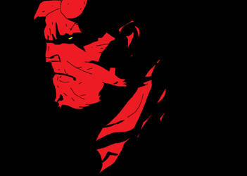 Hellboy (Drawn With a Mouse) by Yusuke99