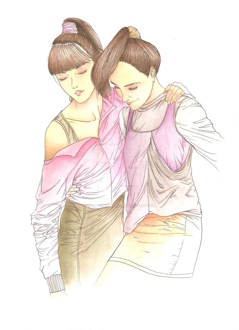 Twins II by loenahimawariko
