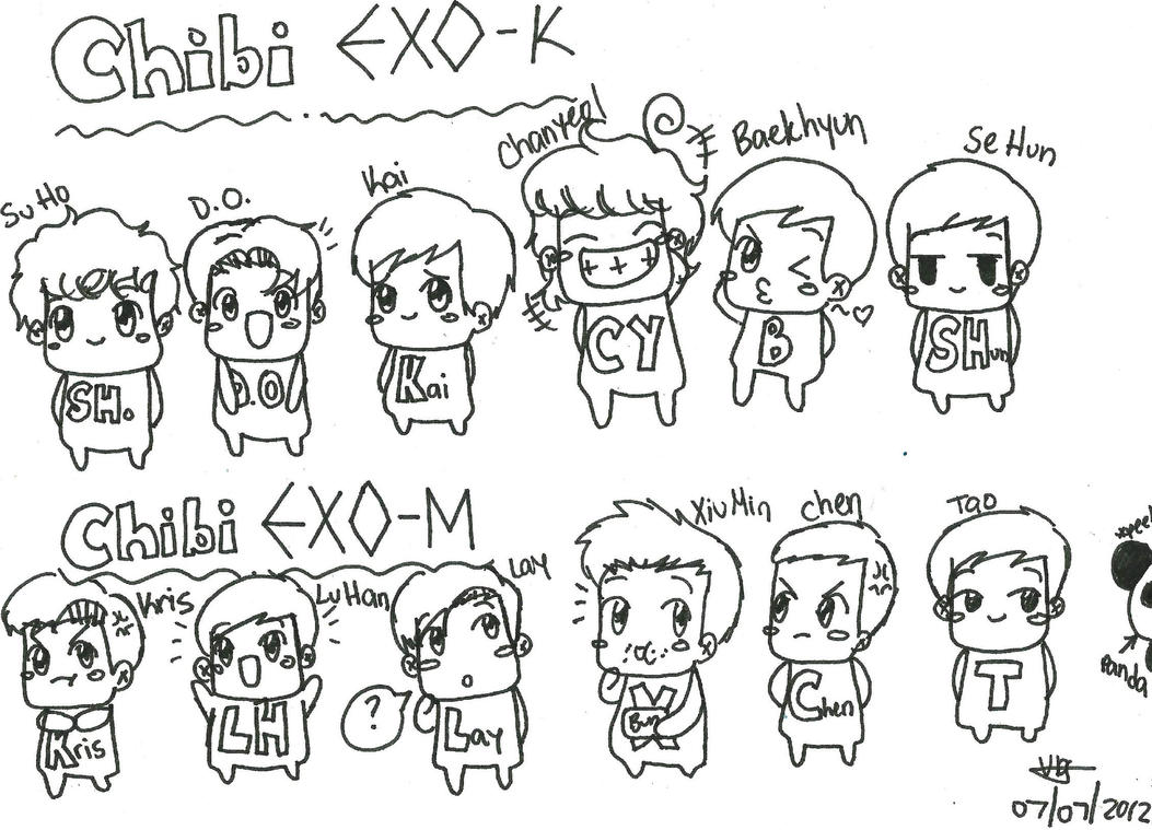 exo fanbase coloring pages - photo#31