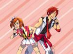 LoveLive! Uta Pri: Honoka and Otoya by nessaaa95