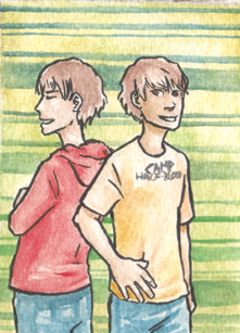 Travis and Connor Stoll by Miagola