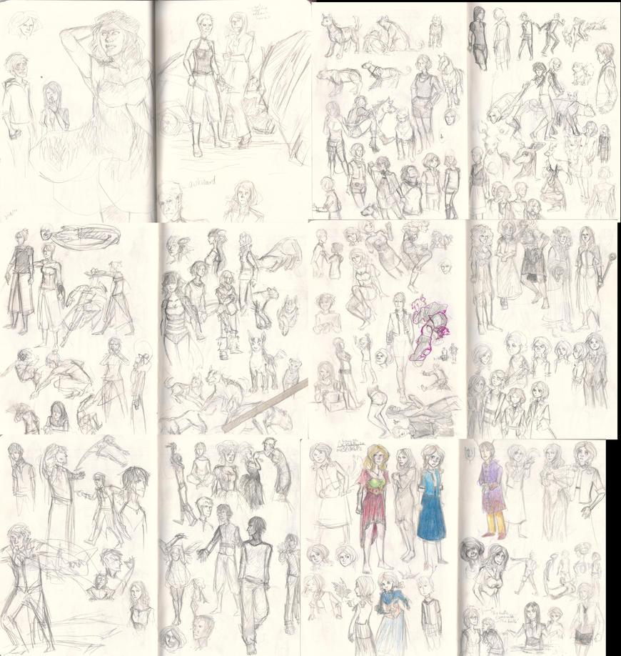 one giant big damn sketchdump by Miagola