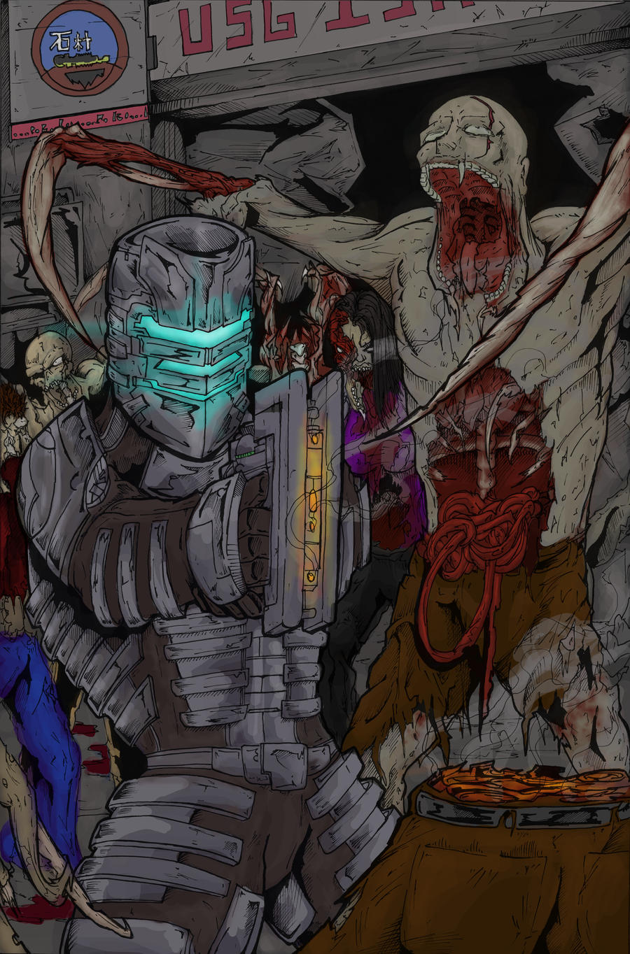 Dead Space - Color by TheEndofOurLives