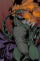 Godzilla - Roar - Color by TheEndofOurLives