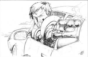 The Road Warrior - Pencil - Commission