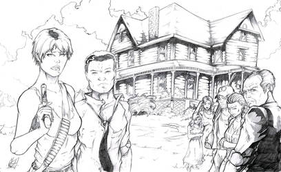 Night of the Living Dead - Cast - Pencils