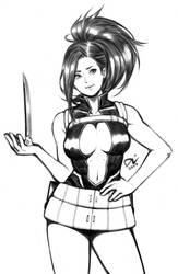boku no hero academia : momo yaoyorozu by damndamndrum