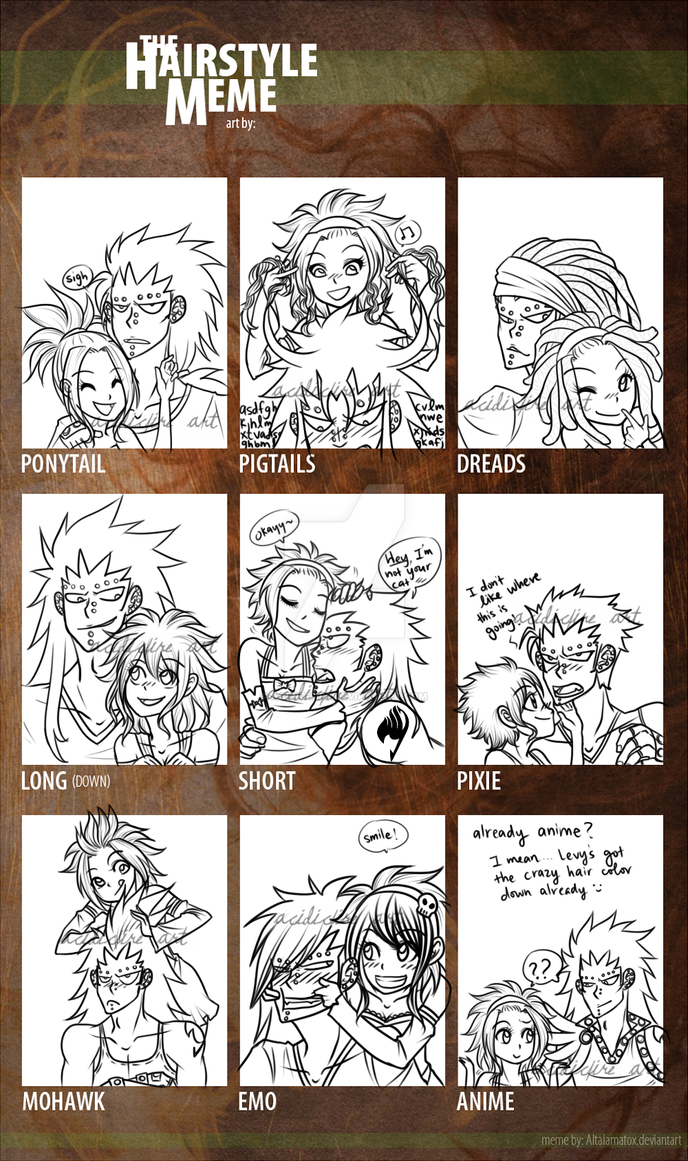 Gajeelxlevy Hairstyle Meme By Acidic Fire On Deviantart