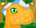 Agumon in a Forest