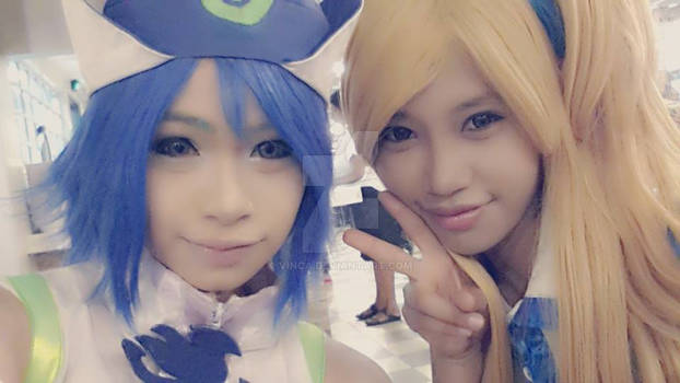Juvia n Lucy on Animax Asia 2014