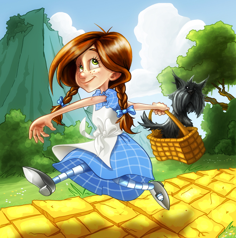dorothy and toto color by lukas2die4 on deviantart