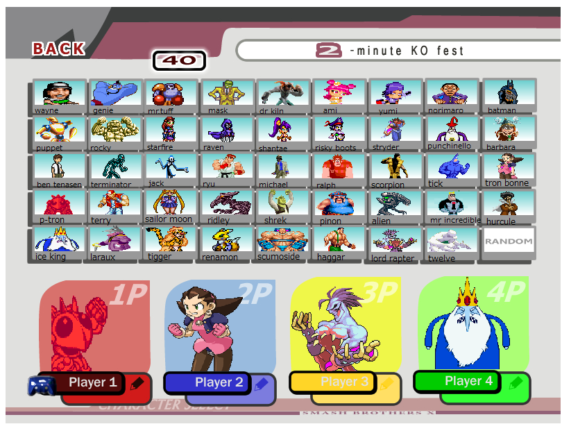 My super smash flash 2 roster by amyrosefan17 on deviantart