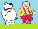stewie and brian puffed up