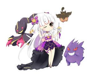 Purple Gym Leader : Shinobu by Himeji-hime