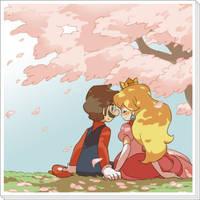 Mario and peach love by Rodrigato