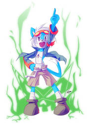 Kori the digger - Halloween costume - by howlzapper
