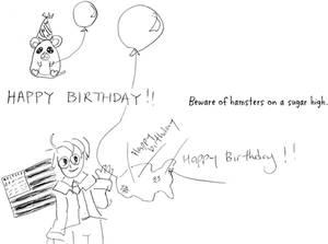 Drawing in Birthday Card 2012