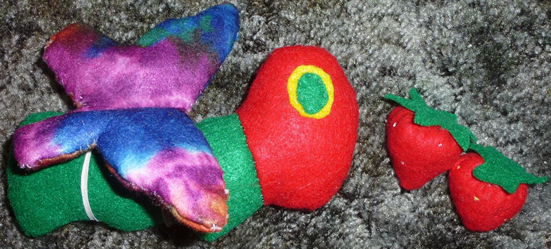 Hungry Caterpillar and Strawberry Plushies