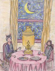 Tea Time as Hades and Persephone