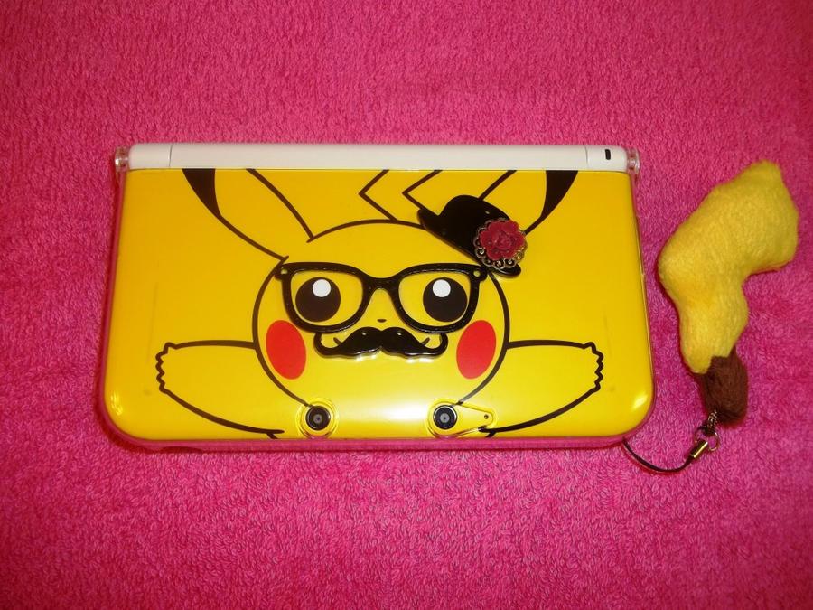 Pokemon pikachu 3ds xl custom case by nefarious89 on for 3ds xl pikachu achat