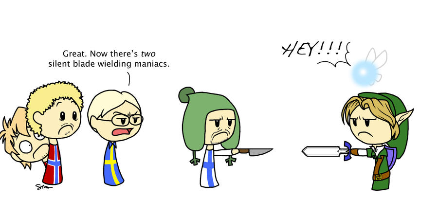 Link vs. Finland by loves2die4