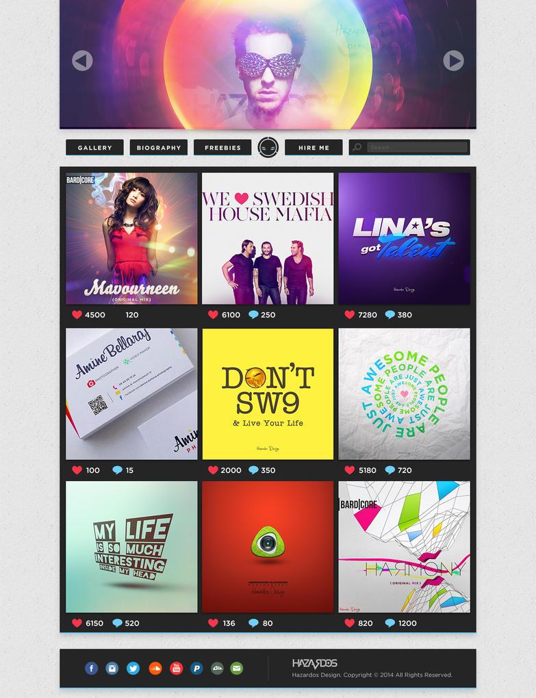 Hazardos Design website conception 1.0 by HAZARDOS