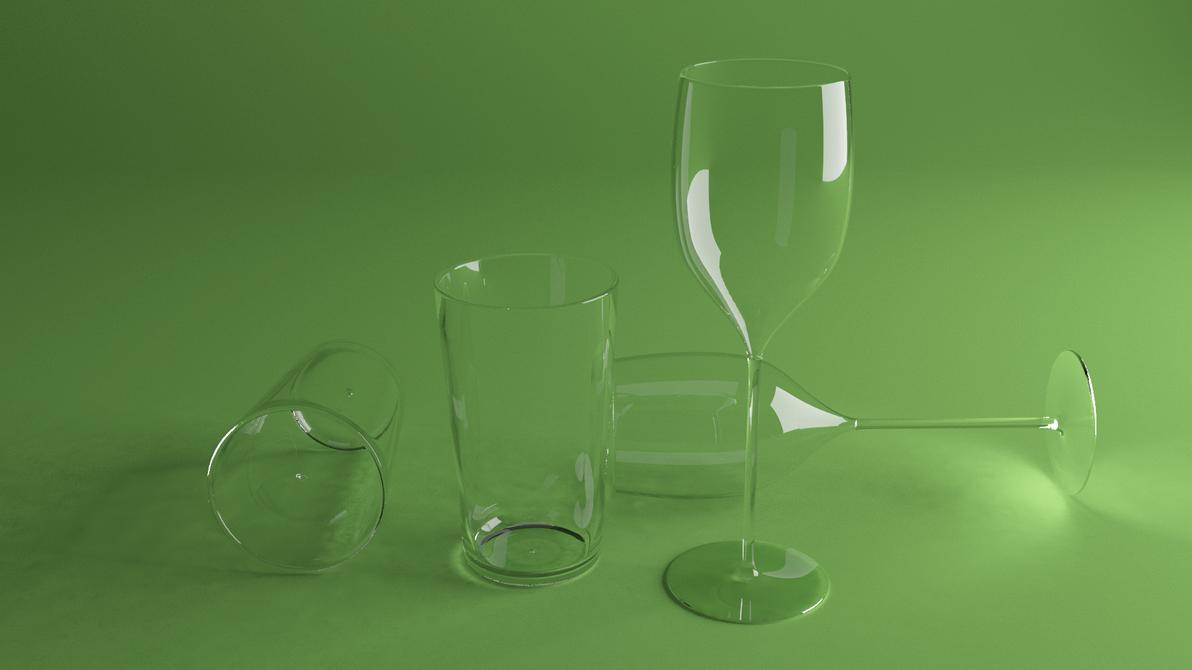Glass and win glass by HAZARDOS