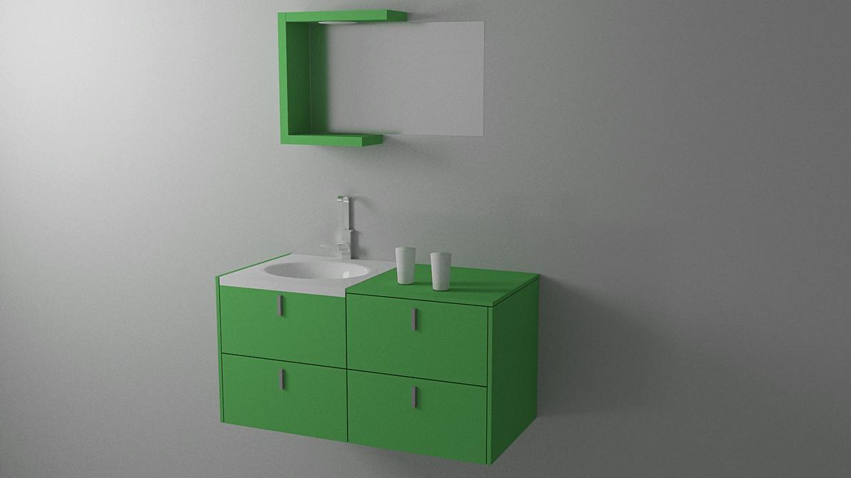 Clean Minimal Bathroom Furniture by HAZARDOS