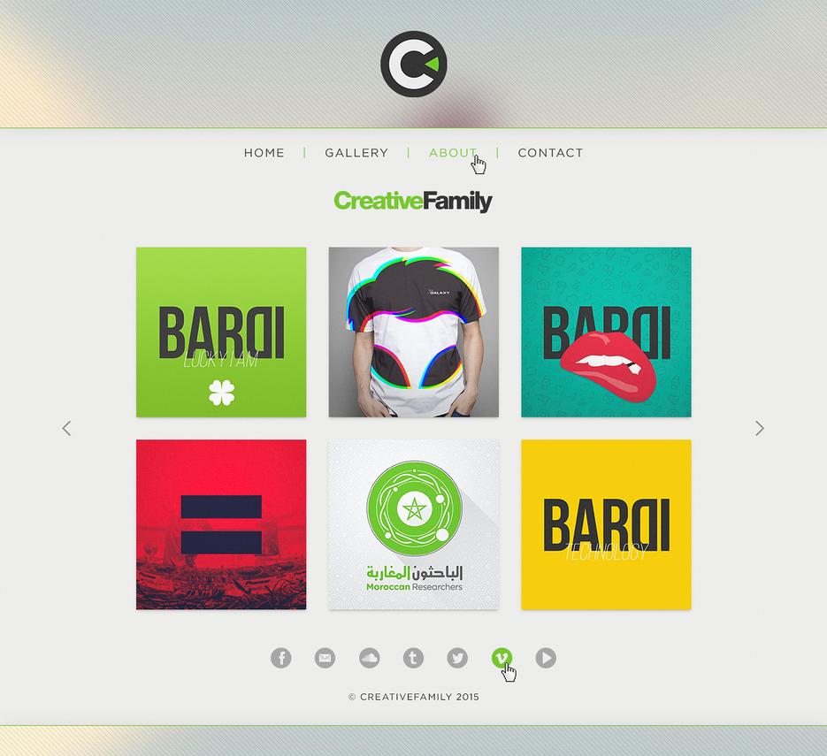 CreativeFamily website interface concept 1 by HAZARDOS