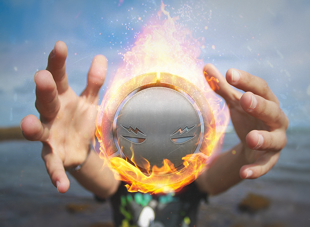 Logo On Fire by HAZARDOS